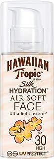 HAWAIIAN Tropic Silk Hydration Air Soft Face SPF 30 - Loción Solar Protectora para el Rostro Crema Hidratante Facial con ...