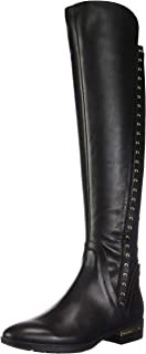 Womens Pardonal Leather Studded Over-The-Knee Boots