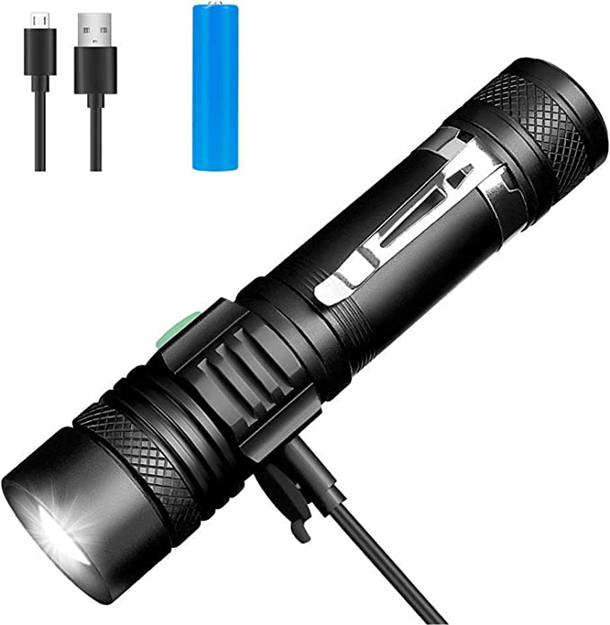 4329 opinioni per Ricaricabile Torcia LED, Winzwon Mini CREE LED Torce per Campeggio Pesca