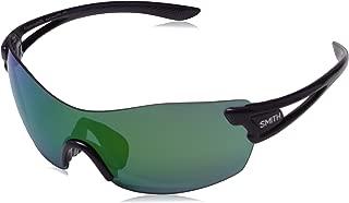 Smith Pivlock Asana Sunglasses Black Cherry Frame ChromaPop Sun Green Mirror and Contrast Rose Flash lenses 08CQ