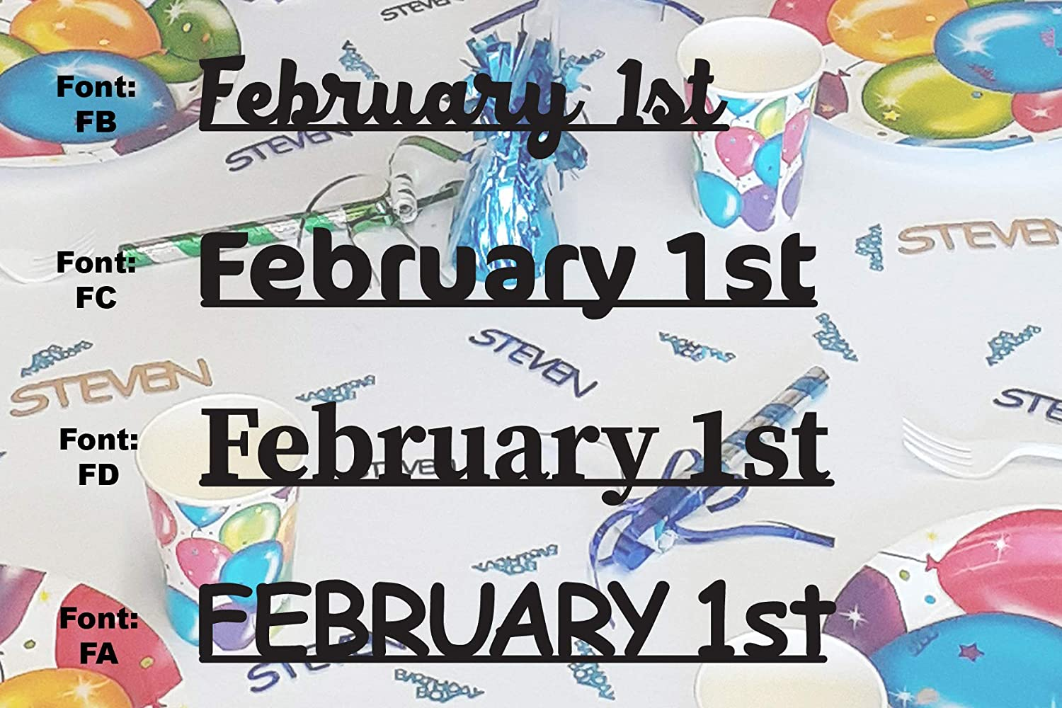 FEBRUARY Branded Branded goods goods 1st - Date Confetti in Con Metallic Includes 12 Colors.