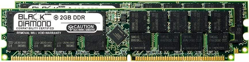 4GB 2X2GB Memory RAM for Sun Fire v240, v245, v250, v440, v445 184pin PC2700 333MHz DDR RDIMM Black Diamond Memory Module Upgrade