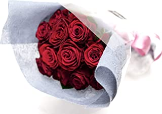 ROSETIQUE by Miwako×IMAI KIYOSHIオリジナル 永遠の愛を誓う花束 ダズンローズ (生花) プロポーズに最適 (レッド系)