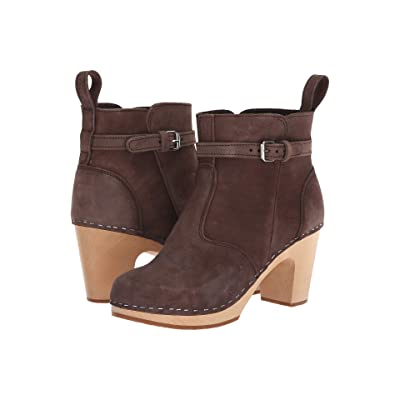 Swedish Hasbeens High Heeled Jodhpur (Chocolate Nubuck) Women