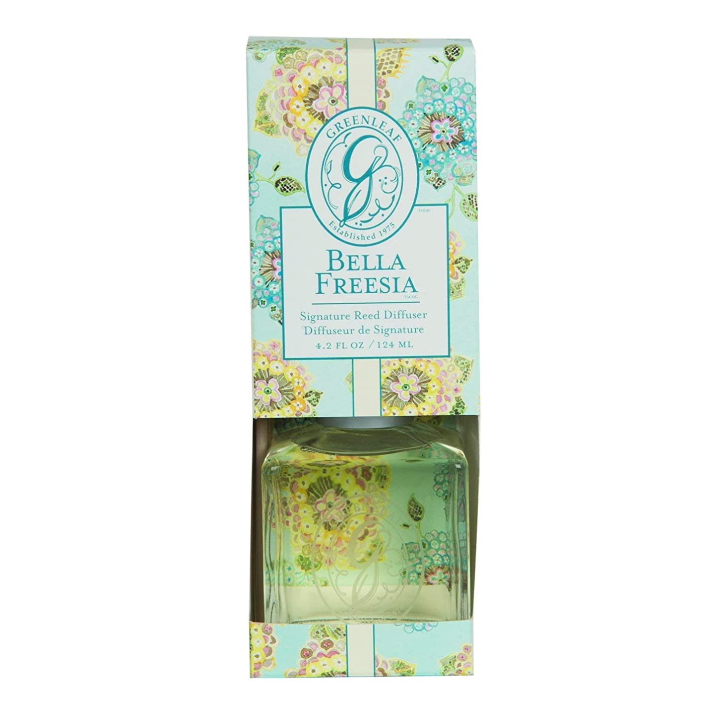 頼るもろい公使館GREENLEAF REED DIFFUSER BELLA FREESIA