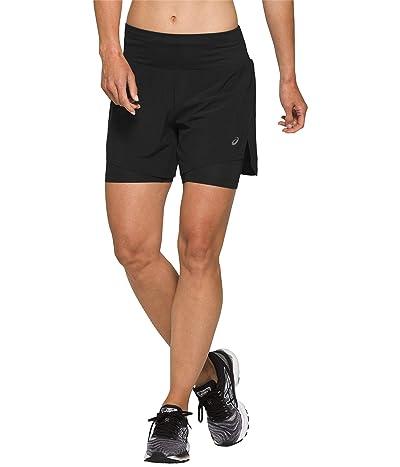 ASICS Road 2-in-1 5.5 Shorts (Performance Black) Women