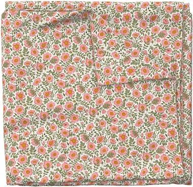 Spoonflower Duvet Cover, Wild Coral Roses Vintage Flowers Floral Retro Antique Victorian Rose Print, 100% Cotton Sateen Duvet
