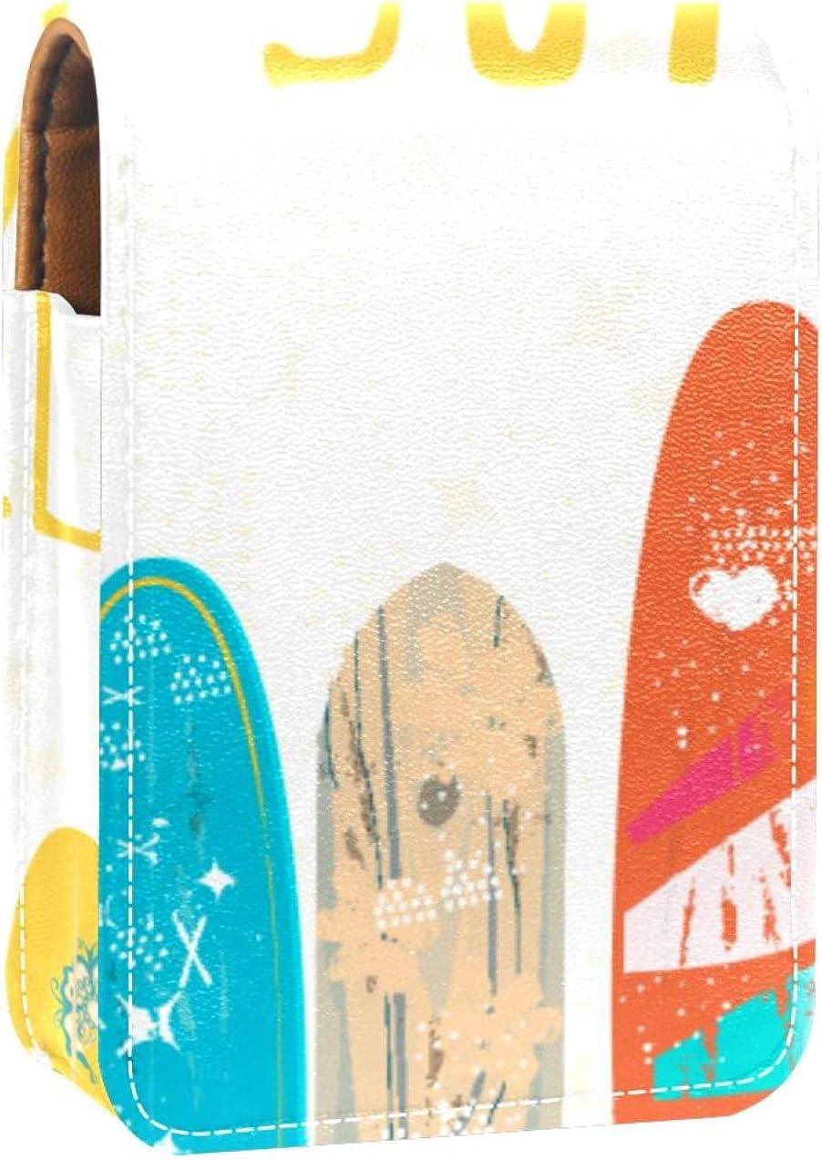 Hello Summer Surfing Lip Over item handling Gloss Case Mak Holder Austin Mall Portable Lipstick