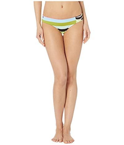 Maaji Adella Sundeck Reversible Signature Coverage Bikini Bottoms (Artemis Lime Stripe) Women