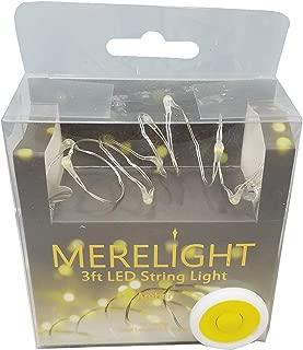 Manor Lane Merelight Amber 3 Feet Decorative LED Shimmer String Lights