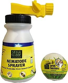 40 Million Beneficial Nematodes(H.bacteriophora) - Nema Globe Grub Buster - Sprayer Combo - New