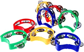 Sponsored Ad – Olgaa 8 Pieces Tambourine with Bells Plastic Hand Bell Musical Percussion Tambourine Musical Toys for Adult...
