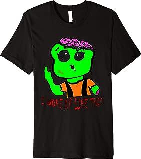 Green Zombie - I woke up like this - Great Halloween Gift Premium T-Shirt