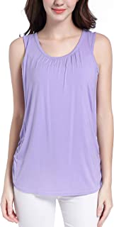 SUIEK Maternity Nursing Shirt Breastfeeding Tank Tops Cami Summer Clothes