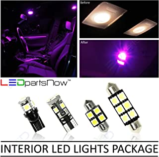 LEDpartsNow Interior LED Lights Replacement for 2013-2019 Mazda CX-5 CX5 Accessories Package Kit (9 Bulbs), FUCHSIA PURPLE