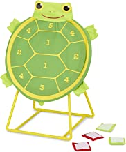 Melissa & Doug Tootle Turtle Target Game, Active Play & Outdoor, Two Color Bean Bags, Self-Sticking Bean Bags, 22
