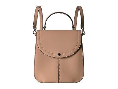 Kate Spade New York Andi Medium Convertible Backpack (Light Fawn) Backpack Bags