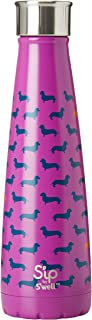 S'ip by S'well 200115510 Insulated, Double-Walled Stainless Steel Water Bottle, Top Dog 15oz, Purple