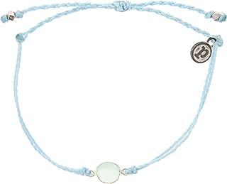 Silver or Gold Gemstone Bracelet - Waterproof, Artisan Handmade, Adjustable, Threaded, Fashion Jewelry for Girls/Women