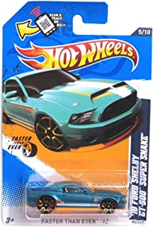 Hot Wheels 2012 Faster Than Ever 2010 Shelby Mustang GT500 GT-500 Super Snake Supersnake Teal