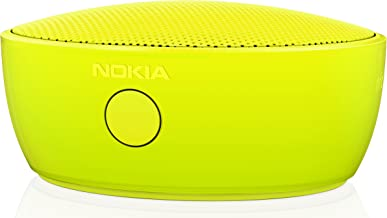 Nokia MD-12 Rechargeable Bluetooth/NFC Wireless Portable Mini Speaker with Built-In Microphone for Smartphones/Tablets - Yellow