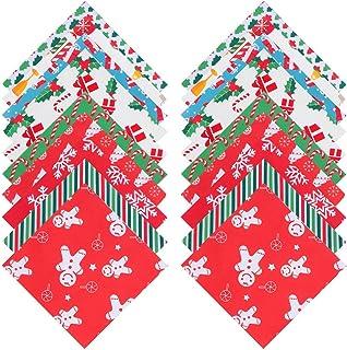 ARTIBETTER 20 Peças de Tecido de Algodão de Natal Floral Acolchoado Pedaço de Pano de Retalhos de Gordura Pacotes de Quart...