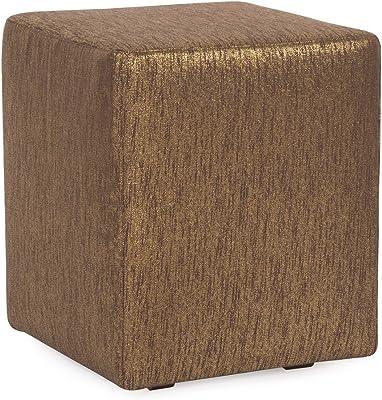 Howard Elliott C128-293 Slipcover for Universal Cube Ottoman, Glam Chocolate