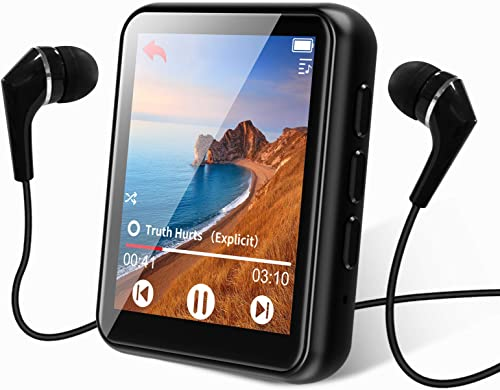 MP3 Player Bluetooth 5.0 Touch Screen Music Player 16GB Portable mp3 Player with Speakers high Fidelity Lossless Soun...
