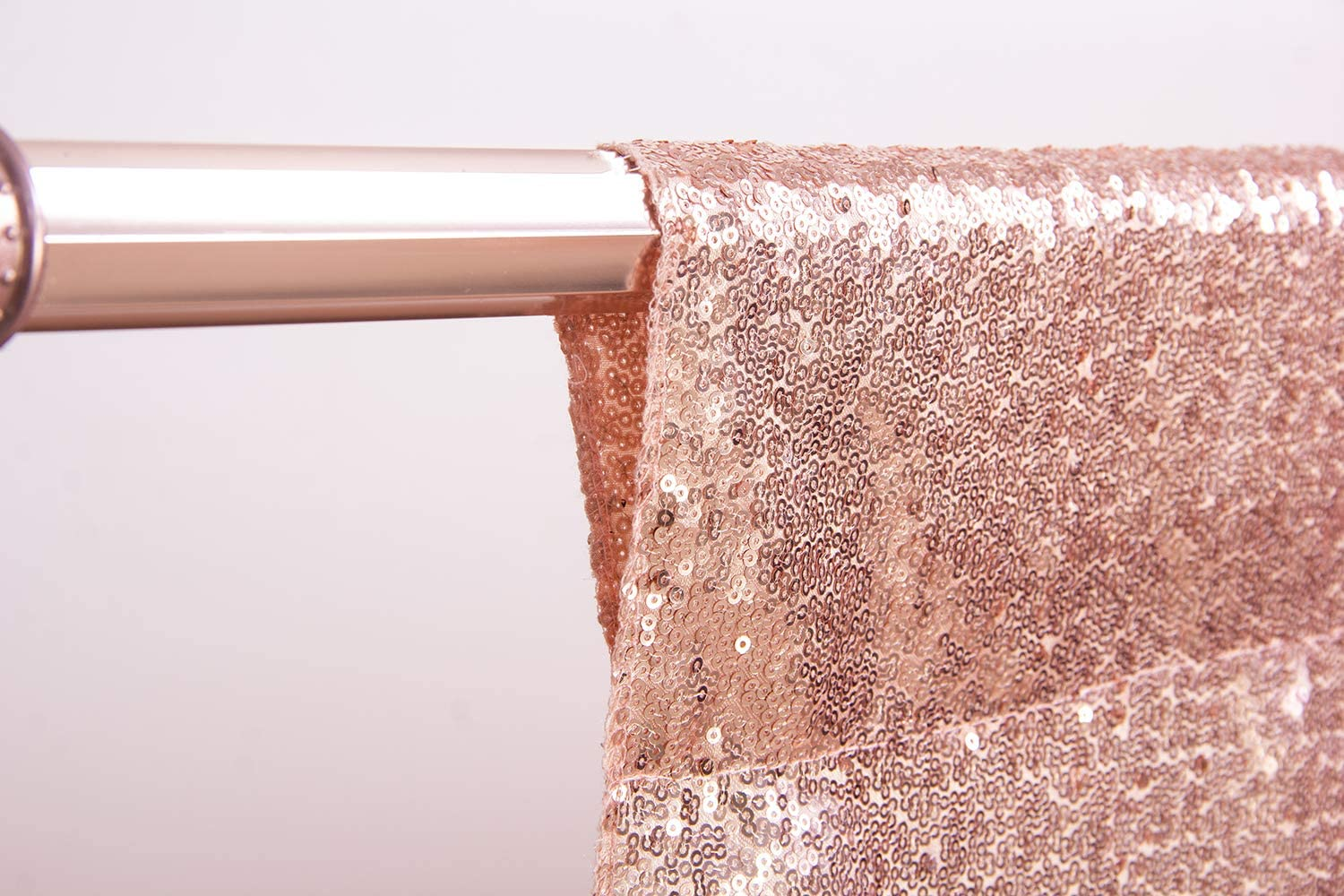 Birthday 4Ft x 6Ft, Rose Gold Baby Bridal Shower. Party Delight 4Ft X 6Ft Rose Gold Non-Transparent Sparkling Satin Sequin Backdrop Curtain for Photography and Photo Booth
