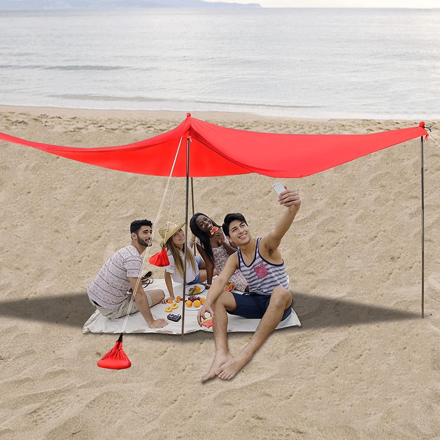 Family Beach Tent Sunshade Max 45% OFF Pop UPF50+ Up Sun Courier shipping free Shelter