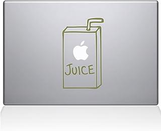 "The Decal Guru 1008-MAC-13P-G Apple Juice Vinyl Sticker, 13"" Macbook Pro (2015 & older), Gold"