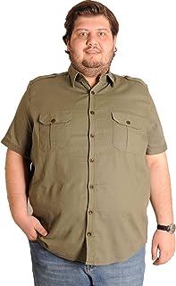Mode XlBüyük Beden Erkek Kısa Kol Gabardin Gömlek 1
