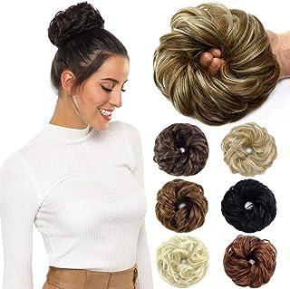 Sponsored Ad - ROSEBUD Hair Bun Extensions Messy Synthetic Chignon Hairpiece Easy Bun Hair Pieces for Women Hair Updos