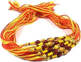 Urvi Creations Set Of 12 Beaded Moli Thread Kalava Rakhi For Brother Rakhi Combo Rakhi For Bhaiya, Rakhi Gift For Brother ...