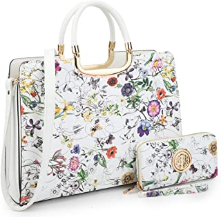 Women's Handbags and Purses Ladies Tote Shoulder Bags Satchel Top Handle Work Bags Briefcase with Matching Wallet