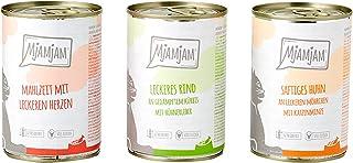 MjAMjAM - Comida húmeda premium para gatos - Paquete de mezcla - Pollo, carne de res, corazones, paquete de 6 (6 x 400 g),...