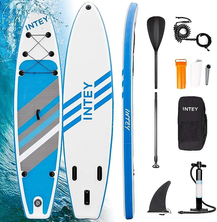 Stand up paddle board gonfiabile, supporto tavola in pvc costruzione ultra robusta, kit completo intey B08BRLYQRK