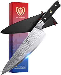 "DALSTRONG Chef Knife - 8"" Shogun Series X - Damascus - Hammered Finish - Japanese AUS-10V Super Steel -G10 Handle - w/Sheath"
