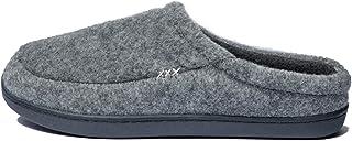 GOLDGOD Confortable Coton Chaussons pour Hommes, Memory Foam Hiver Thermique Pantoufles Intérieur Extérieur Chaud Doux Con...