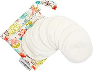 Organic Washable Breast Pads 8 Pack | Reusable Nursing Pads for Breastfeeding with Carry Bag