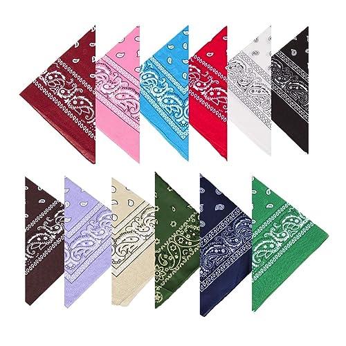 3c3cdb1baaed BOOLAVARD 100% Cotton 1pcs, 6pcs or 12pcs Pack Bandanas with Original Paisley  Pattern Colour