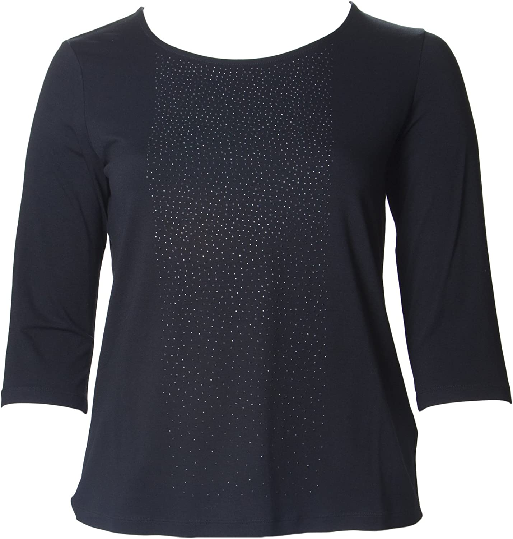 Marina Rinaldi Women's Velo Gemmed Front TShirt