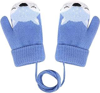 guanti caldi a doppio strato sci caldi giocare neve per bambini dai 4 ai 10 anni design volpe FakeFace Graziosi guanti e muffole per bambini muffe guanti invernali in lana invernali spessi