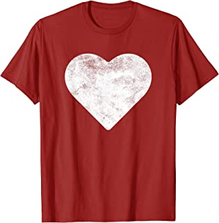 Cute Heart Valentines Day Red T Shirt Vintage Distressed