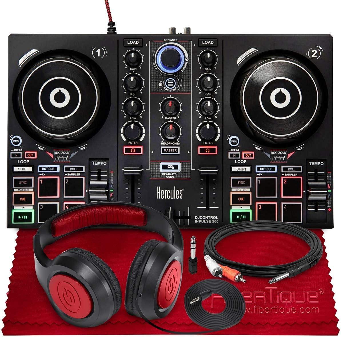 Outlet SALE Omaha Mall Hercules DJControl Inpulse 200 Compact + Headphone Controller DJ