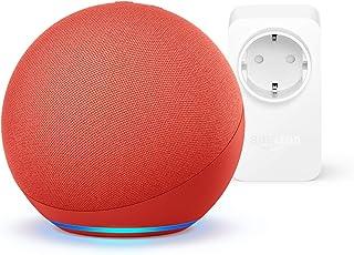 Nuevo Echo (4.ª generación), PRODUCT(RED) + Amazon Smart Plug (enchufe inteligente WiFi), compatible con Alexa