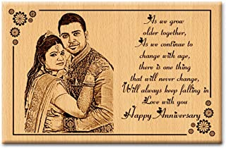 Incredible Gifts India Unique and Lovely Wedding Anniversary Gift For Couple - Photo on Wood (6x4 inch, Beige)