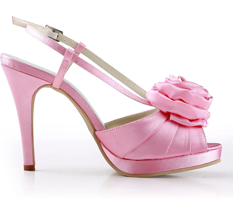 Zioso TMZ352 Women's Flower Satin Bridal Wedding Evening Formal Party Pumps shoes