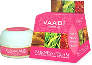 Vaadi Herbals Fairness Cream, Saffron, Aloe Vera and Turmeric Extracts, 30g