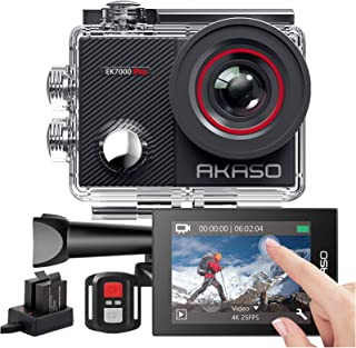 AKASO Action Cam EK7000 Pro Actiecamera, 4K 20MP, wifi, 40M onderwatercamera, waterdicht, ultra HD touchscreen, instelbaa...